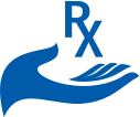 hand with Rx icon