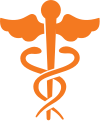 Caduceus medical icon
